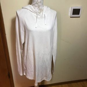 PacSun white hooded beach coverup, size L